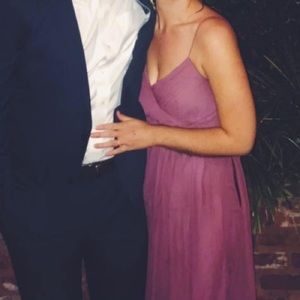 Weddington way blush bridesmaid dress